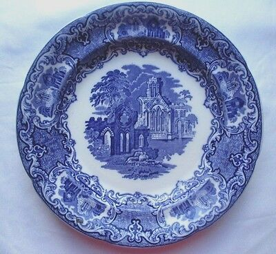 Antique Blue & White Abbey 1790 Dinner Wall Plate by George Jones & Son England