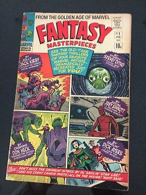 Fantasy Masterpieces #1 FN, February 1966,Stan Lee, Great cover CGC Worthy