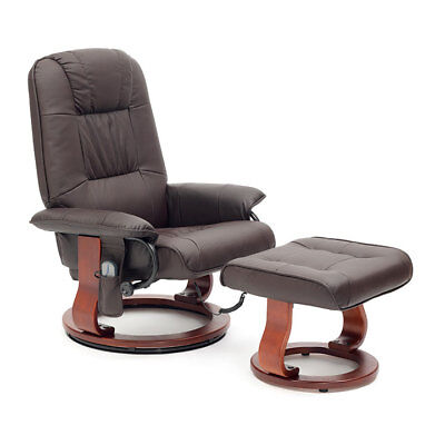 Drive Napoli Faux Leather Heat and Massage Armchair Swivel Seat Chair Recliner