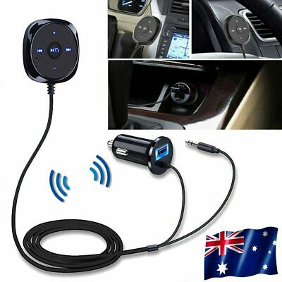 Magnet Car Kit Wireless Bluetooth Receiver FM LCD AUX Handsfree USB Charging