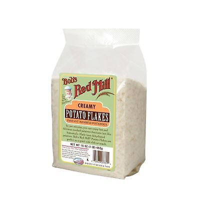 Bob's Red Mill Instant Mashed Potatoes Creamy Potato Flakes - 16 oz - Case of 4