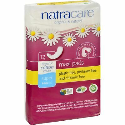 Natracare Natural Maxi Pads Super  - 12 Count