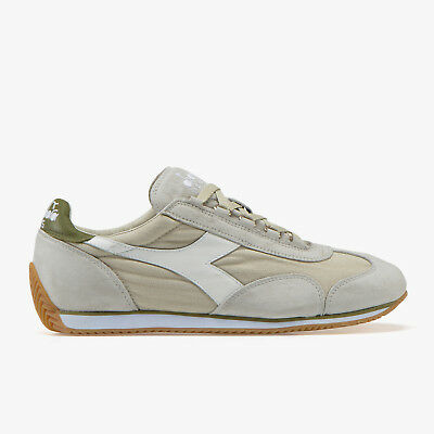 SNEAKERS UOMO DIADORA HERITAGE EQUIPE STONE WASH SILVER CLOUD/DRIED HERB