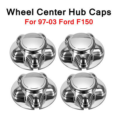 "For 1997-2003 Ford F150 F-150 4Pcs 7"" Chrome Hub Wheel Center Caps Badge Covers"