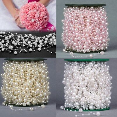 5M Wedding Pearl Acrylic Bead Plastic Garland Rope Wedding Party Decoration