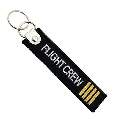 Flight Crew Keychain Keyring Embroidery Luggage Tag Motorcycle Key Chain Ring
