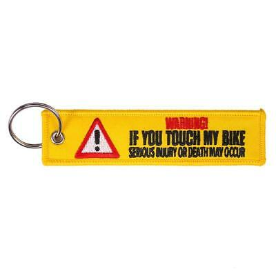 If You Touch My Bike Keychain Keyring Embroidery Luggage Tag Key Chain Ring