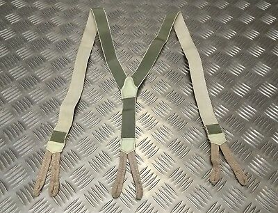 Vintage WW2 Pattern Working Dress Elasticated Suspenders / Braces w Button Loops