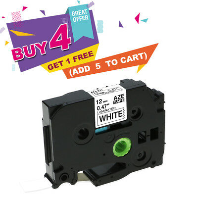 Black on White Label Tape Compatible for Brother TZe 231 P-Touch TZ231 12mm