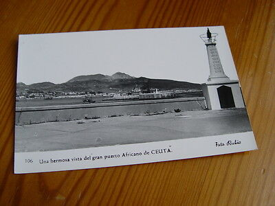 TOP6320 - Postcard - View of the African Port of Ceuta