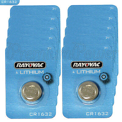 10 x Rayovac CR1632 batteries Lithium 3V Coin Cell BR1632 KRC1632 EXP:2023
