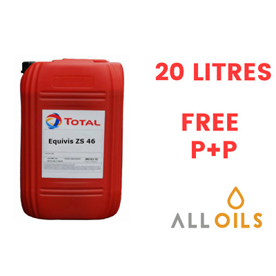 Total Equivis ZS 46 Anti Wear Industrial Hydraulic Oil 20 L Litres DIN 51524