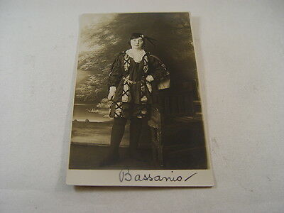 OTH260 - Postcard - Person in Costume, Bassanio, Merchant of Venice 1917