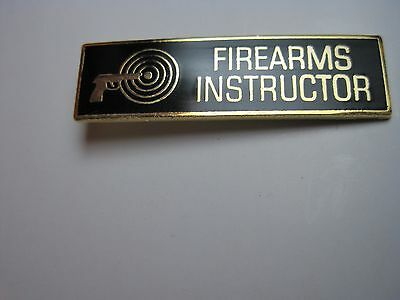 Firearms Instructor Uniform Pin Gold With Black Enamel Police Sheriff Le Chl Buy
