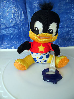 """Baby Daffy 7"""" Plush - Squeaking - with Teething Ring"""