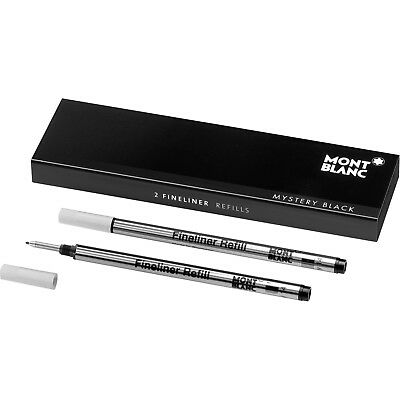 Montblanc (B) Fineliner Mystery Black Refills 105170 | NEW