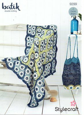 STYLECRAFT 9299 DK Blanket & Bag CROCHET PATTERN - not the finished items