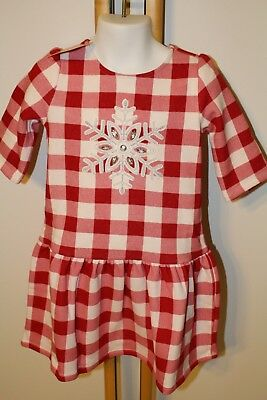 d835850420eac Gymboree North Pole Party Girls Size 5T Snowflake Dress Plaid NWT NEW Fleece