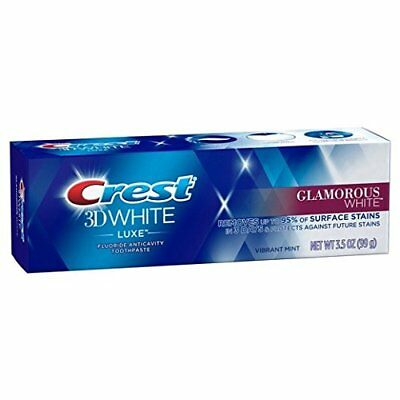 Crest 3D White Luxe Glamorous White Toothpaste 3 Pack Removes 90% Of Surface