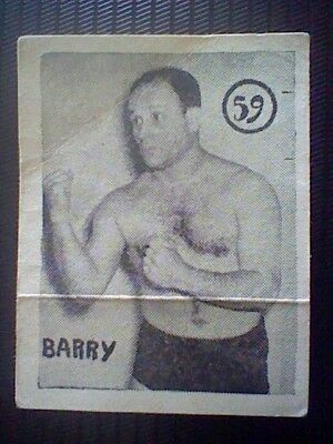 Barry Spanish Card 50´S Fight And Boxing Wrestling Spain  Card Nr 59