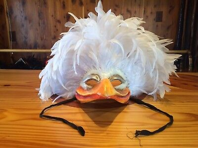 Vintage Venice Carnival Masks Made in Italy Venetian Mardi Gras White Feathers