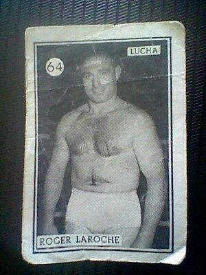 Roger Loreche  Spanish Card 50´S Fight And Boxing Wrestling Spain  Card Nr 64