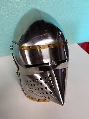 Gothic Knight Armor Solid Steel Medieval Helmet
