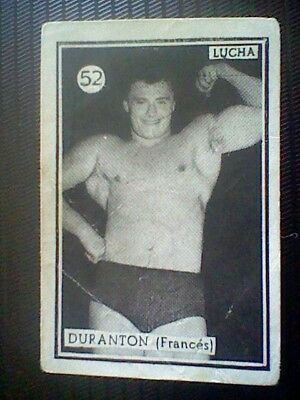 Duranton France Spanish Card 50´S Fight And Boxing Wrestling Spain  Card Nr 52