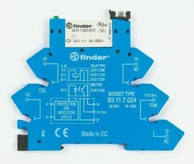 Finder 38 Series[Blank] 12V dc DIN Rail Interface Relay Module, SPDT, Cage Clamp