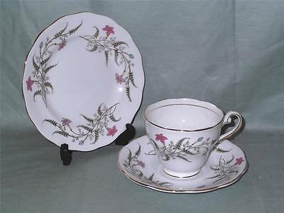 Royal Standard Fancy Free Bone China Trio Tea Cup Saucer & Side Plate  Patt.1230