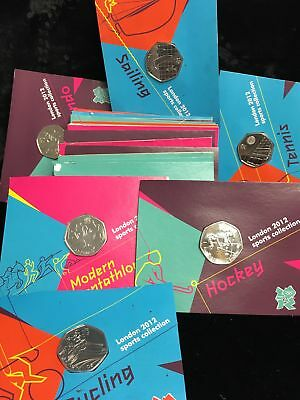 Set of 23 London 2012 Sport Collection The Royal Mint