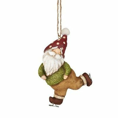 New Dept56 Xmfor Skating Gnome Ornament