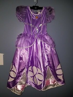 Disney Princess Sofia The First Toddler Costume Size 3T-4T Tiara Included