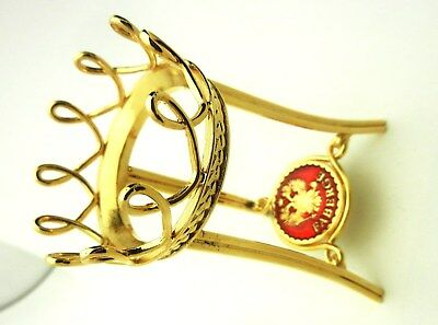 Faberge Menagerie Egg Stand Only Red Enamel Faberge Hallmark Brand New