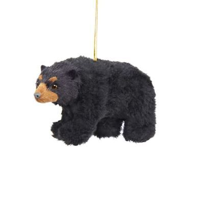 Kurt Adler Plush Black Bear Ornament