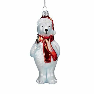 New Kurt Adler Coca-Cola'Glass Polar Bear Ornament