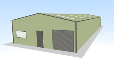 Steel Framed Buildings - Industrial Steel Unit - 10m x 25m x 3.5m Steel Building