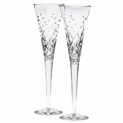 "Waterford Wishes ""Happy Celebrations"" Toasting Flutes, Pair"