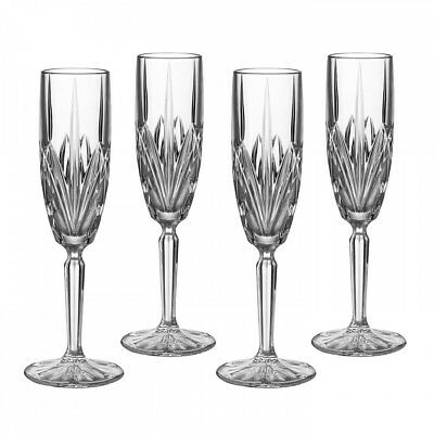 Waterford Brookside Flute, Set of 4