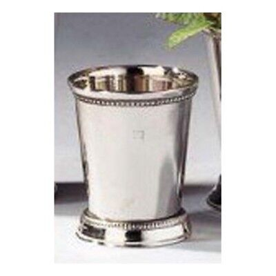 """New Leeber Nickel Plated Beaded Mint Julep Cup, 3"""""""