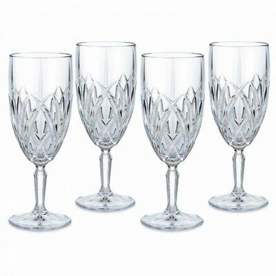 Marquis by Brookside Footed Iced-Beverage Goblets, Set of 4