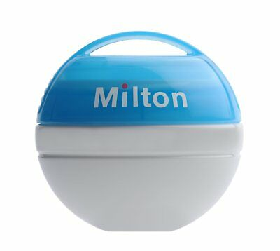 Milton Baby Mini Portable Soother Infant Pacifier 100% watertight Steriliser BLU