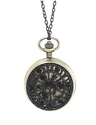 Disney Alice Through The Looking Glass Pocket Watch Pendant Necklace Loungefly