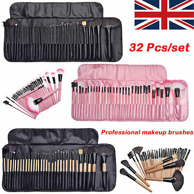 Professional 32Pcs Kabuki Make Up Brush Set Eye Cosmetic Brushes BLACK,PINK,WOOD
