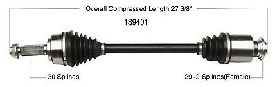 CV Axle Shaft-New Front Right WorldParts 189401
