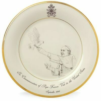 New Lenox Pope Francis Commemorative Plate 2015