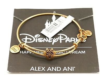 New Disney Parks Alex and Ani Minnie Mouse Slider Bangle Bracelet Gold