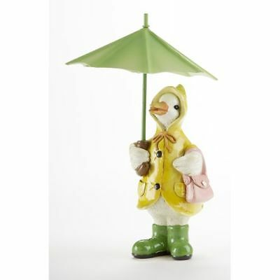 New Delton 4.3X7.1 Inches Resin Duck With Umbrella