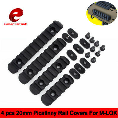 Element Airsoft 4 pcs Tactical Polymer Picatinny Rail Covers For M-LOK Handguard