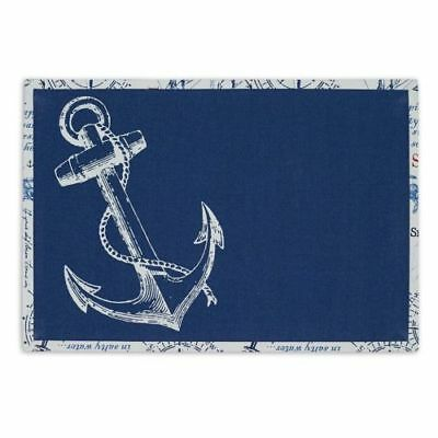 New Design Imports Set of 4 Anchor Printed Placemat